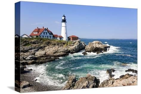 Lighthouse in Portland, Maine-LuciaP-Stretched Canvas Print