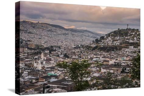 Tramonto a Quito-tommypic-Stretched Canvas Print