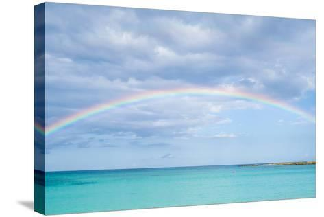 Rainbow over Ocean-bradcalkins-Stretched Canvas Print