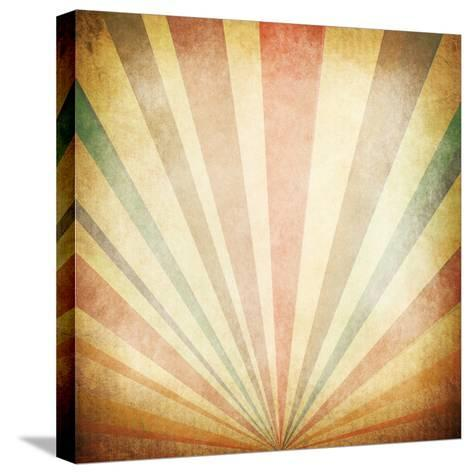Vintage Sunbeams Background- oly5-Stretched Canvas Print