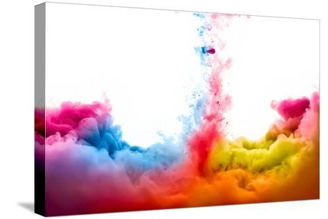 Raoinbow of Acrylic Ink in Water. Color Explosion-Casther-Stretched Canvas Print