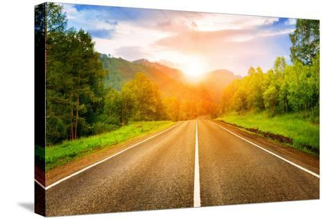 Sunny Road- tarasov_vl-Stretched Canvas Print