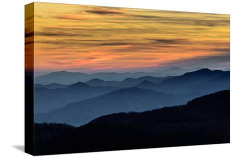 Layers of the Blue Ridge Mountains-skiserge1-Stretched Canvas Print