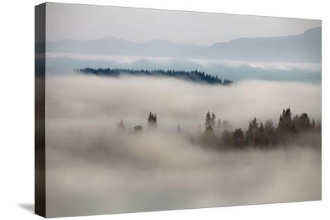 Mountain Fog- vchornyy-Stretched Canvas Print