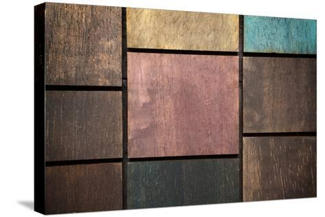 Wooden Background-blackboard1965-Stretched Canvas Print