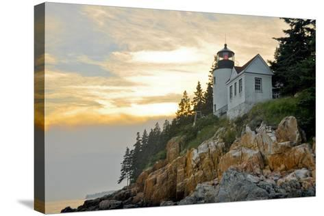 Sunset at Bass Harbor Lighthouse, Acadia National Park (Maine)-ALCE-Stretched Canvas Print