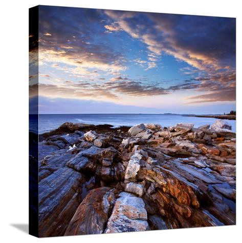 Pemaquid Point Coast, Bristol Maine-Paul Lemke-Stretched Canvas Print