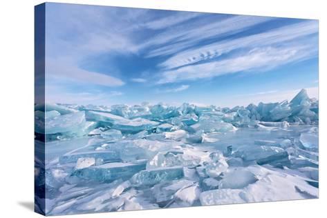 Ice Hummocks at Lake Baikal-katvic-Stretched Canvas Print
