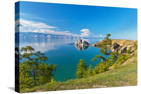 Summer on Lake Baikal. Sunny Day on Olkhon Island-katvic-Stretched Canvas Print