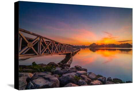 Sunset in Botanic Park- azirull-Stretched Canvas Print
