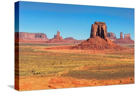 Monument Valley West and East Mittens Butte Utah National Park-lucky-photographer-Stretched Canvas Print
