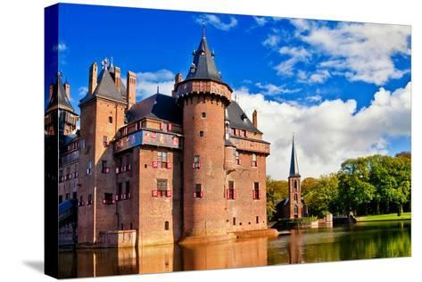 Beautiful Romantic Holland Castle on Water De Haar-Maugli-l-Stretched Canvas Print