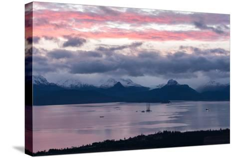 Jackup Rig in Kachemak Bay-Latitude 59 LLP-Stretched Canvas Print