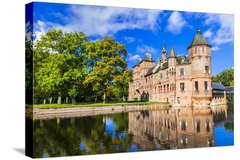 Beautiful De Haar Castle, Holland-Maugli-l-Stretched Canvas Print