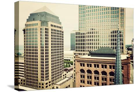 Downtown Cleveland-benkrut-Stretched Canvas Print