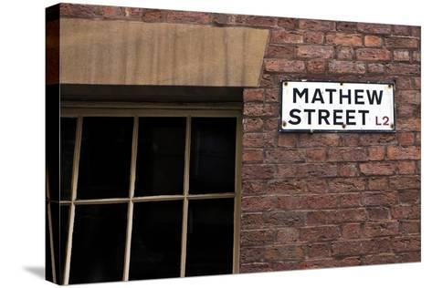 Mathew Street Sign in Liverpool-chrisd2105-Stretched Canvas Print