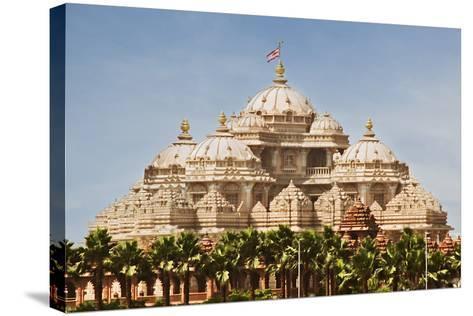 Facade of a Temple, Akshardham, Delhi, India-jackmicro-Stretched Canvas Print