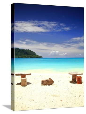 Beach-Port Olry-Espiritu Santo-Vanuatu- livcool-Stretched Canvas Print