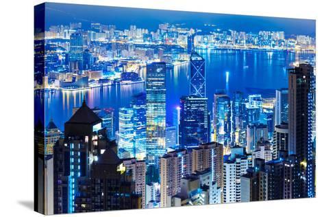 Hong Kong Landmark from the Peak-leungchopan-Stretched Canvas Print