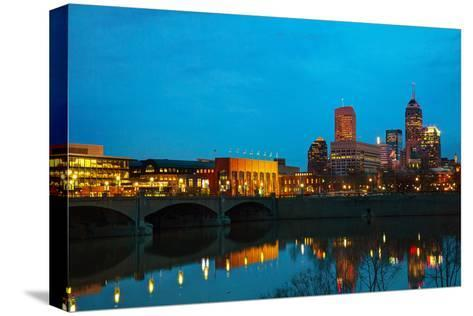 Downtown of Indianapolis-photo ua-Stretched Canvas Print