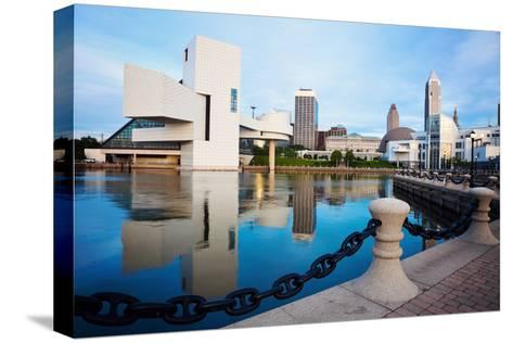 Cleveland Seen Morning Time-benkrut-Stretched Canvas Print