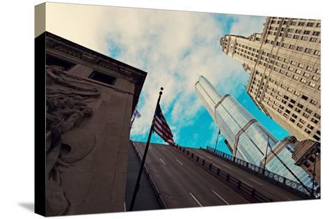 Michigan Avenue Bridge, Wrigley Building and Trump Tower-benkrut-Stretched Canvas Print