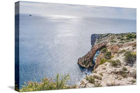 Blue Grotto on the Southern Coast of Malta.-Anibal Trejo-Stretched Canvas Print