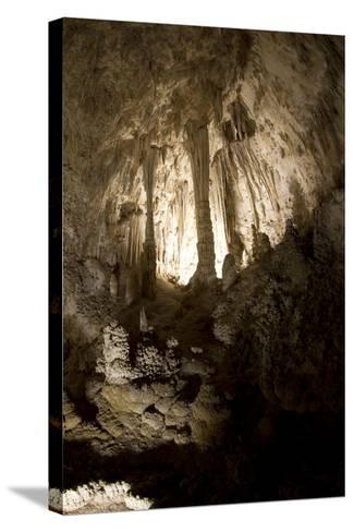 Cavern with Pillar-Pieter De Pauw-Stretched Canvas Print