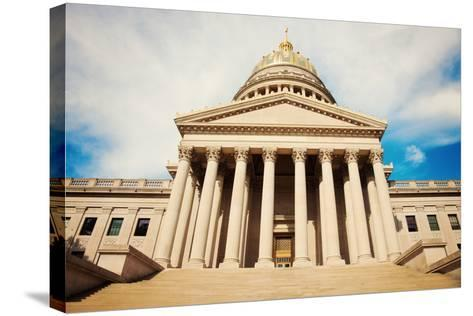 Charleston - State Capitol Building-benkrut-Stretched Canvas Print