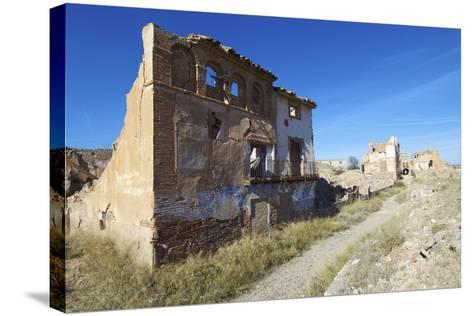 Belchite Village Destroyed in a Bombing during the Spanish Civil War, Saragossa, Aragon, Spain-pedrosala-Stretched Canvas Print