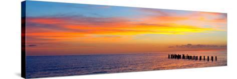 Sunset or Sunrise Landscape Panorama of Beautiful Nature Beach-Fotomak-Stretched Canvas Print
