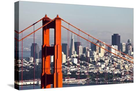 San Francisco with the Golden Gate Bridge-kropic-Stretched Canvas Print
