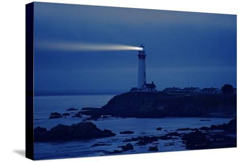 Lighthouse in California-Tomasz Zajda-Stretched Canvas Print