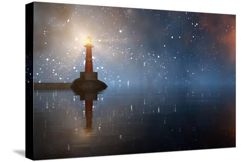 Lighthouse on the Coast-juanjo tugores-Stretched Canvas Print