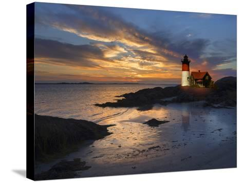 Lighthouse off New England Coast-Christian Delbert-Stretched Canvas Print