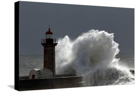 Lighthouse Storm-Zacarias da Mata-Stretched Canvas Print