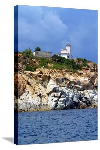 Italia,Sardegna,Capo Ferrato,Il Faro.- gimsan-Stretched Canvas Print