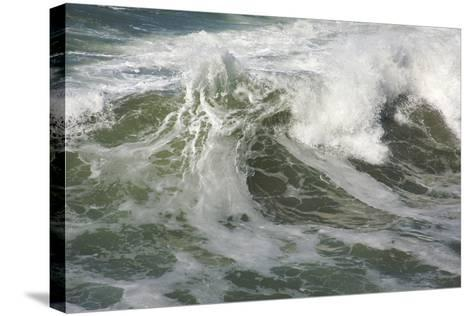 Rough Pacific Ocean Waves-Andy Dean Photography-Stretched Canvas Print