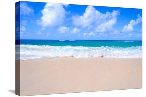 Sandy Beach Background-EllenSmile-Stretched Canvas Print