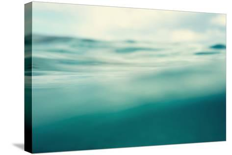Water. Sea. Ocean, Wave close Up. Nature Background. Soft Focus. Image Toned and Noise Added.-khorzhevska-Stretched Canvas Print