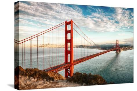 Golden Gate Bridge, San Francisco-vent du sud-Stretched Canvas Print