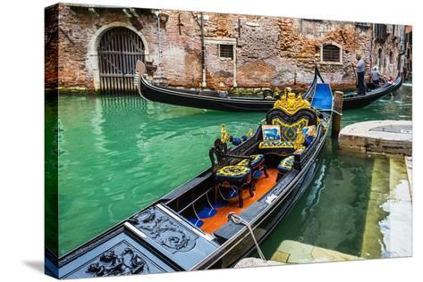 Tourists Travel on Gondolas at Canal-Alan64-Stretched Canvas Print