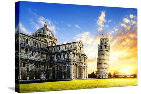Pisa City-vent du sud-Stretched Canvas Print