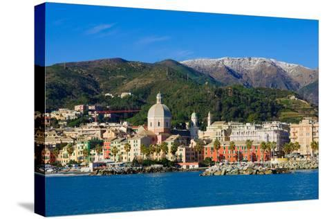Genoa from the Sea-RnDmS-Stretched Canvas Print