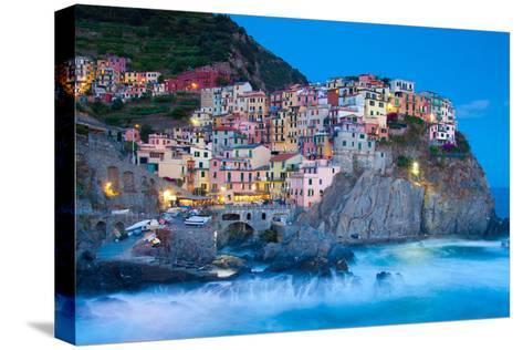 Manarola Fisherman Village in Cinque Terre, Italy-kasto-Stretched Canvas Print