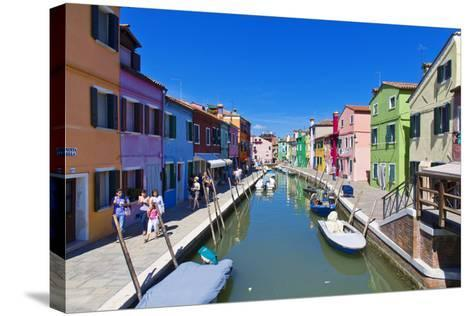Burano, Venice-lachris77-Stretched Canvas Print