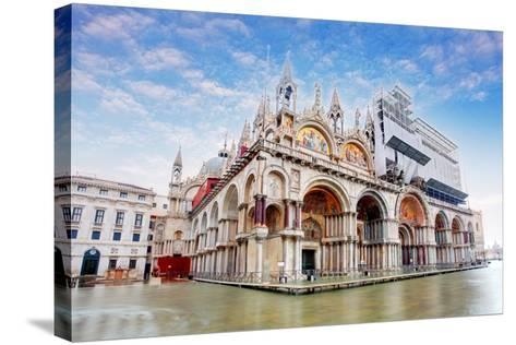 Basilica Di San Marco under Interesting Clouds, Venice, Italy-TTstudio-Stretched Canvas Print