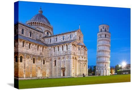 Pisa, Italy. Catherdral and the Leaning Tower of Pisa at Piazza Dei Miracoli.-Patryk Kosmider-Stretched Canvas Print