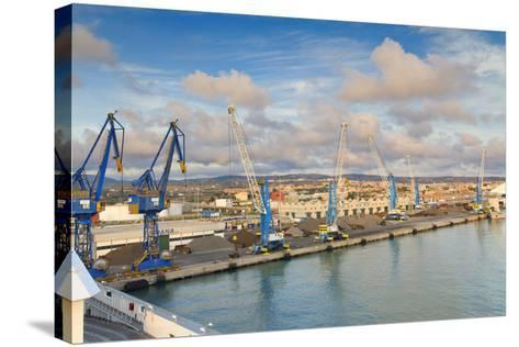 Port of Civitavecchia-lachris77-Stretched Canvas Print