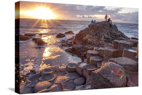 Sunset at Giant S Causeway-Aitormmfoto-Stretched Canvas Print